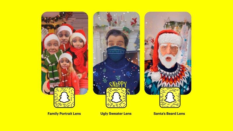 Snapchat celebra la Navidad con nuevos lentes ¡ponte en mood navideño! - snapchat-navidad-lentes-800x450
