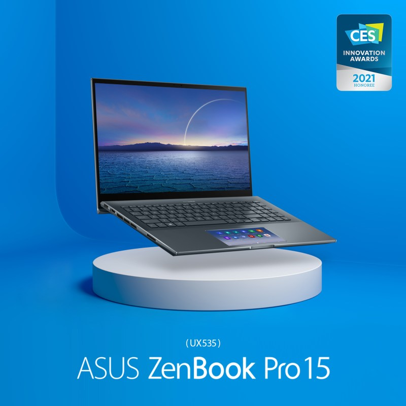 16 productos ASUS y ROG ganan premios a la Innovación en CES 2021 - asus-zenbook-pro-15-ux535-laptop-800x800