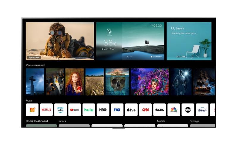 LG presenta su nueva línea de televisiones OLED 2021 en CES 2021 - webos-60-new-home