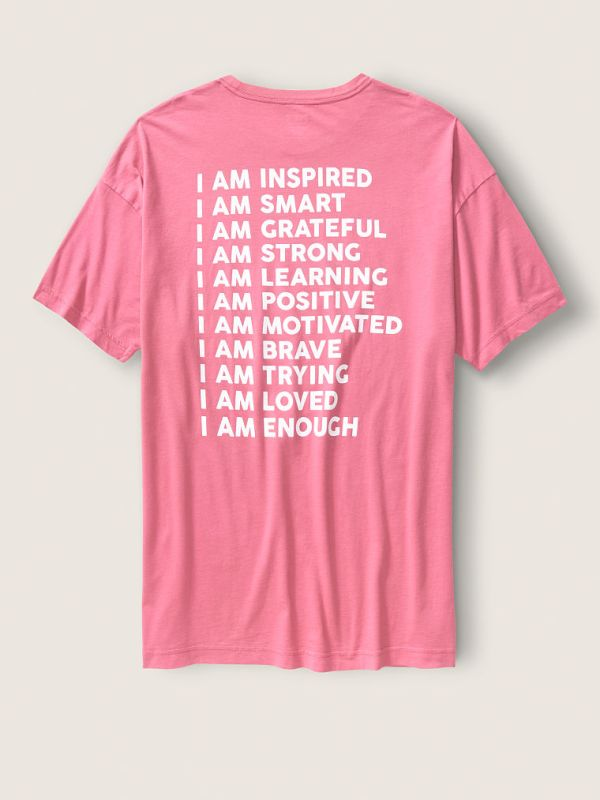 Victoria's Secret PINK celebra a las mujeres con sus T-shirts con mensajes inspiradores - t-shirts-victoria-secret-pink-2-600x800