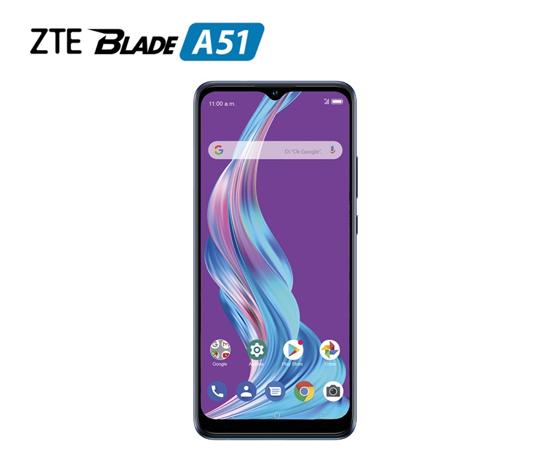 Nuevo ZTE Blade A51 ¡conoce sus características y precio! - zte-blade-a51-azul