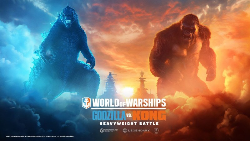 Los titanes cinematográficos Godzilla y Kong lucharán por supremacía en World of Warships - godzilla-y-kong-supremacia-world-of-warships-800x450