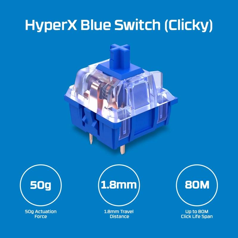 HyperX agrega los interruptores mecánicos Blue a su línea de teclados Alloy Origins Core - hyperx-blue-switch-teclado-mecanico-para-videojuegos-hyperx-alloy-origins-800x800