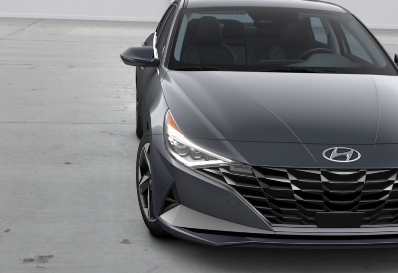 Hyundai Elantra 2022 ya está en México ¡conoce sus características y precio! - hyundai-2021-elantra-ltd-fwd-portofinogrey-black-tdp-leddaytimerunninglights
