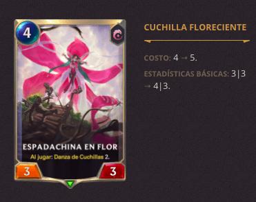 Legends of Runeterra: Notas de la versión 2.9.0 - espadachina-en-flor