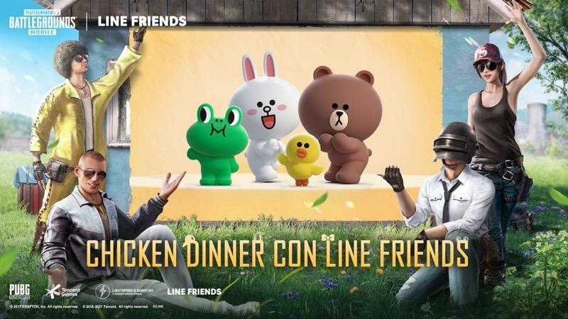 PUBG MOBILE se asocia con la marca global de personajes LINE FRIENDS - pubg-mobile-personajes-line-friends