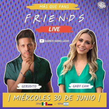 Warner Channel celebra la reunión de Friends con un maratón y un live en youtube