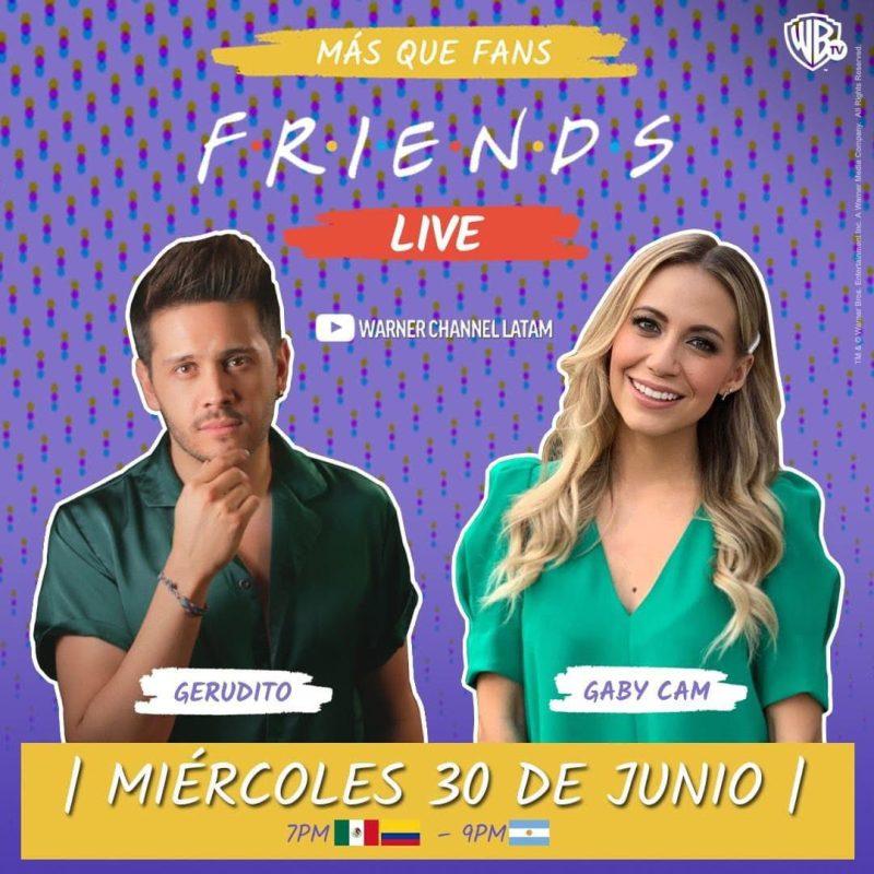 Warner Channel celebra la reunión de Friends con un maratón y un live en youtube - warner-channel-friends-800x800