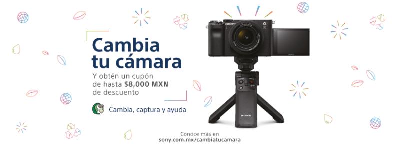 """Campaña """"Cambia, Captura y Recicla"""" de Sony México para donar y reciclar cámaras que ya no uses - cambia-tu-camara-sony-800x296"""