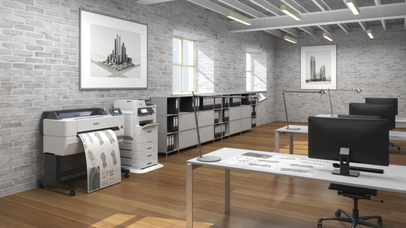 Nueva impresora SureColor T5475 Epson para imprimir planos, dibujos y gráficos