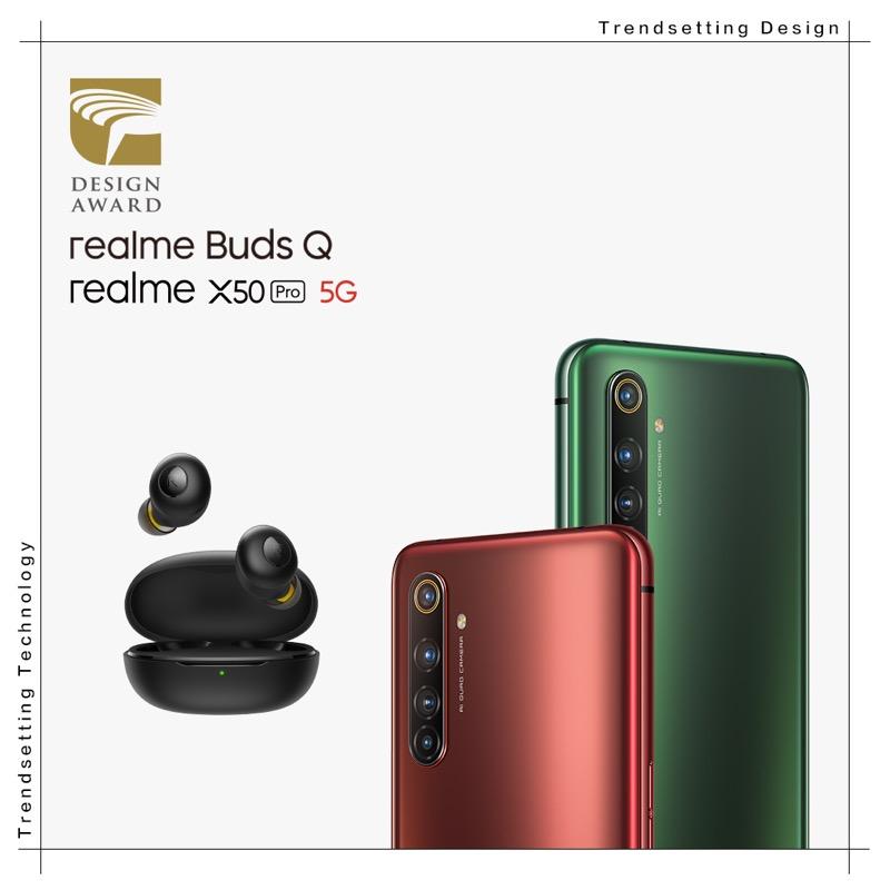 Una marca de teléfonos inteligentes que lleva el diseño a otro nivel - realme-buds-q-x50-pro-5g-golden-design-award-800x800