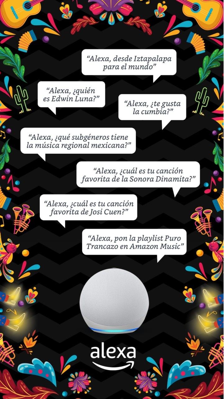 "Alexa y Amazon Music lanzan ""Puro Trancazo"",  en homenaje a la música regional mexicana - alexa-2021-amazon-puro-trancazo-721x1280"