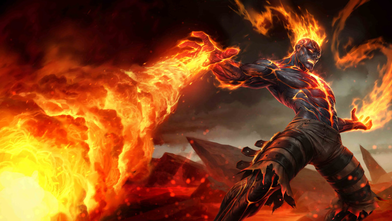 Campeones nuevos en League of Legends: Wild Rift - brand-la-venganza-ardiente