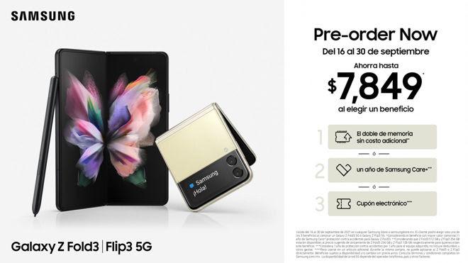 Galaxy Z Fold3 y Galaxy Z Flip3: Precios de preventa en México - galaxy-z-fold3-z-flip3-precios-de-preventa-mexico