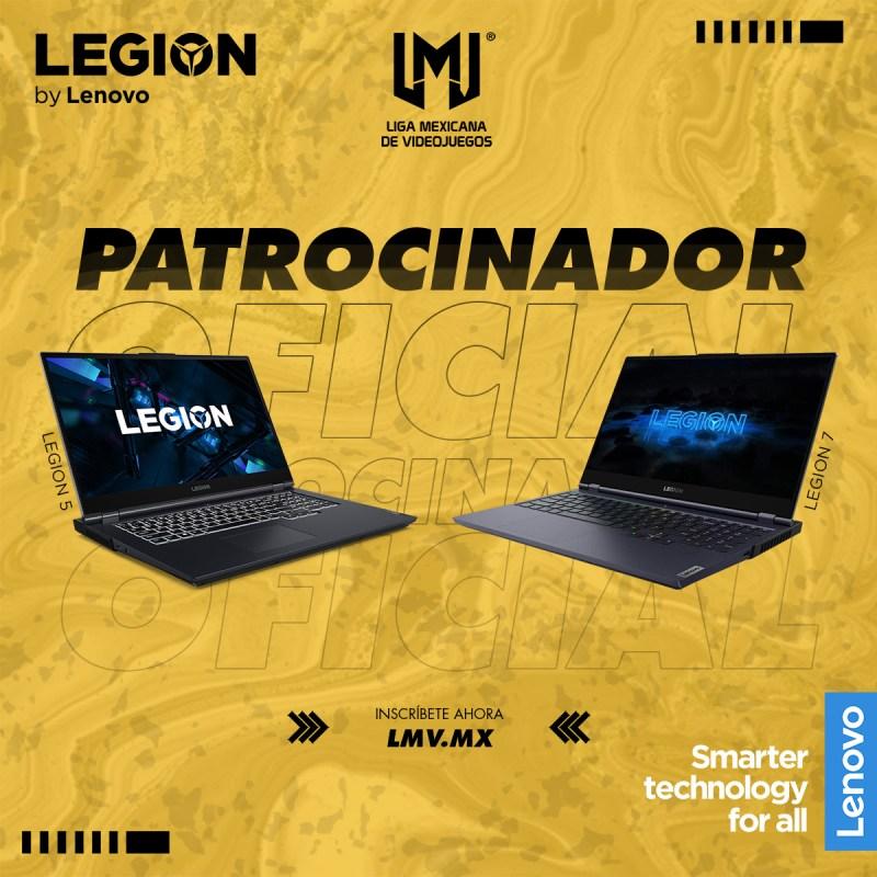 La Liga Mexicana de Videojuegos y Lenovo anuncian alianza para la temporada 6 - patrcinador-liga-mexicana-de-videojuegos-lenovo-legion