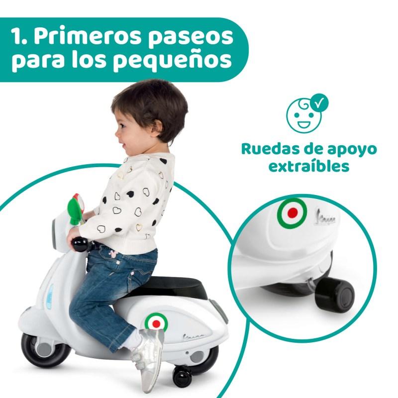 Vespa de Chicco, una motocicleta con la que los niños vivirán aventuras mientras estimulan su desarrollo motriz - juguetes-montable-movegrow-vespa-chicco-2021-1280x1280