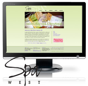 featured website design - Spa West - Spa and Salon