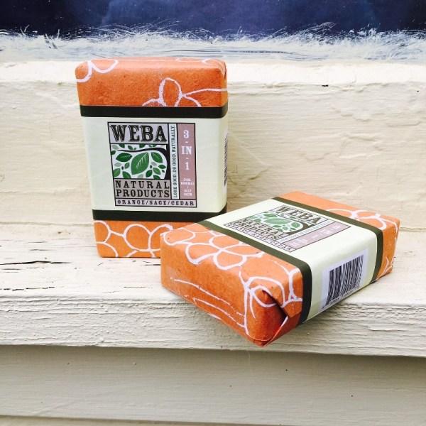Reflect 3 in 1 cedar sage soap with orange oil