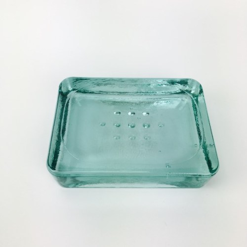 Recycled glass soap dish imported earth friendly