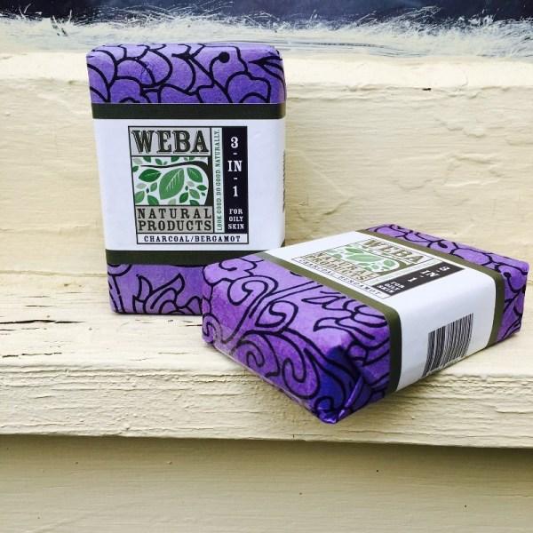 3 in 1 Charcoal Bergamot Bar Soap cruelty free