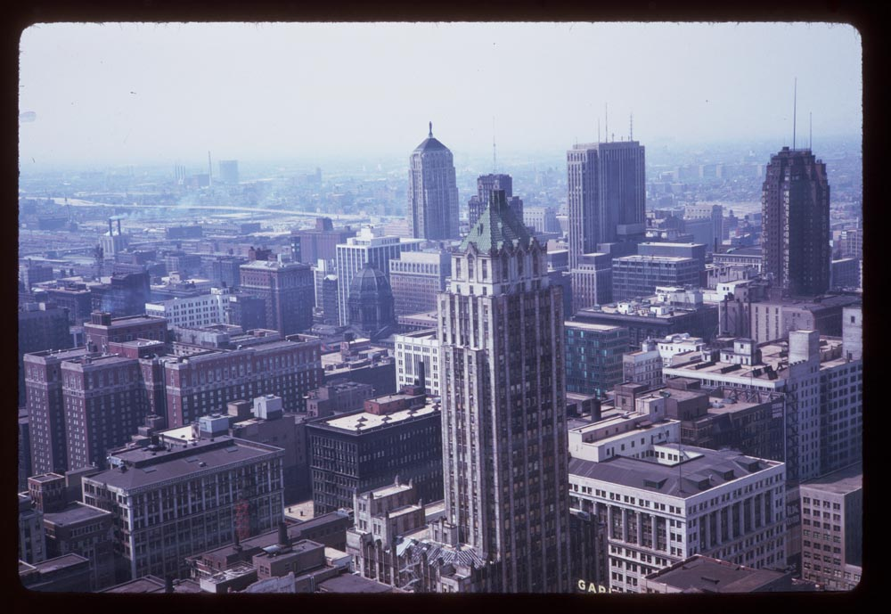 1940s Chicago skyline by Charles W. Cushman, from Indiana University