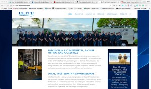 The home page for HAVC and Sheet Metal specialists Elite Mechanical.