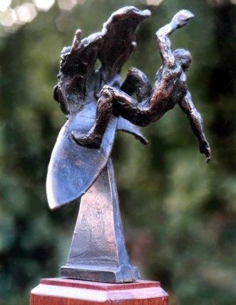 Bronze surfing trophy #3