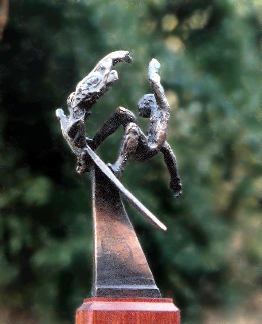 Bronze surfing trophy #2