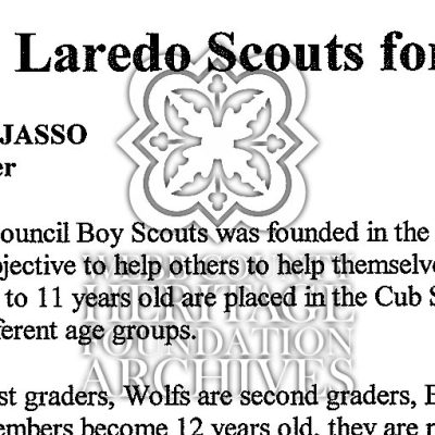 Boys and Girls Scouts of Laredo document scan.