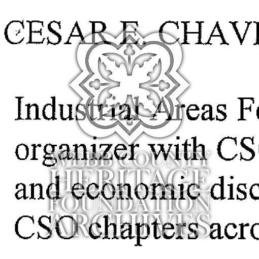 Scan of Cesar Chavez' Biography