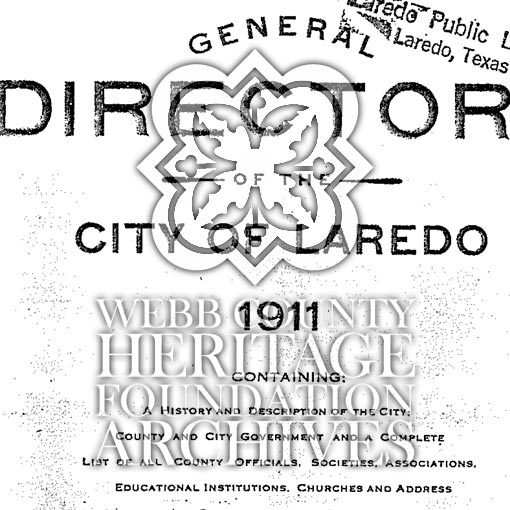Scan of Laredo City Directory from 1911