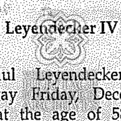 Obituary of Leyendecker IV ,Peter Paul