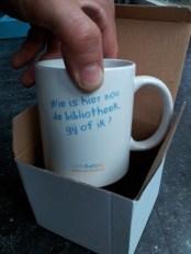 De eerste WebbiebNL mok met de door Jeanine Deckers bedacht slogan!