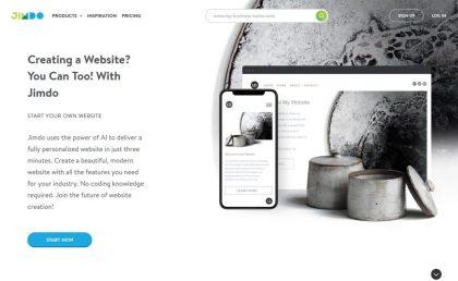 Jimdo AI-powered website builder