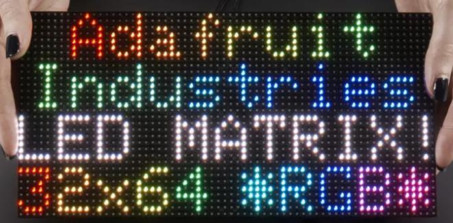 Adafruit 64x32 RGB LED Matrix - 4mm pitch