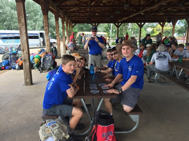 Playing Cards at Philmont