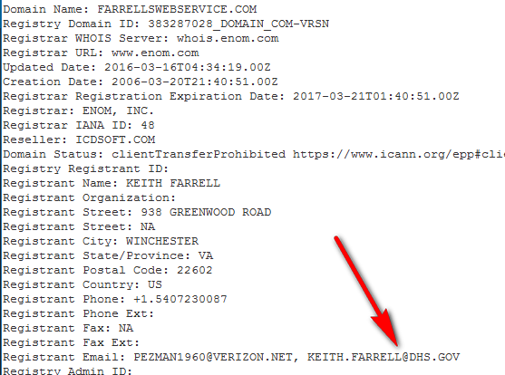 farrellwebservice.com whois data
