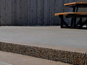 Commercial Concrete Eating Area Exposed Aggregate