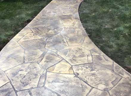 Webb Signature Concrete Stamped Sidewalk