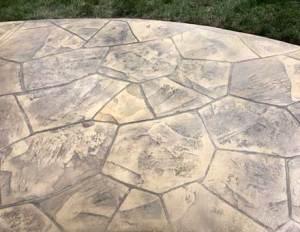 Webb Signature Concrete Stamped Sidewalk Pattern
