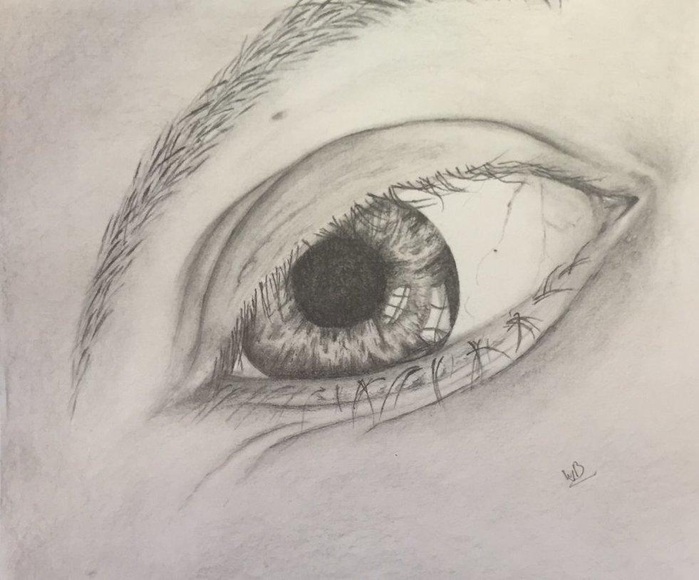 Mijn oog getekend