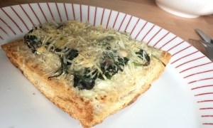 Spinazie pizza