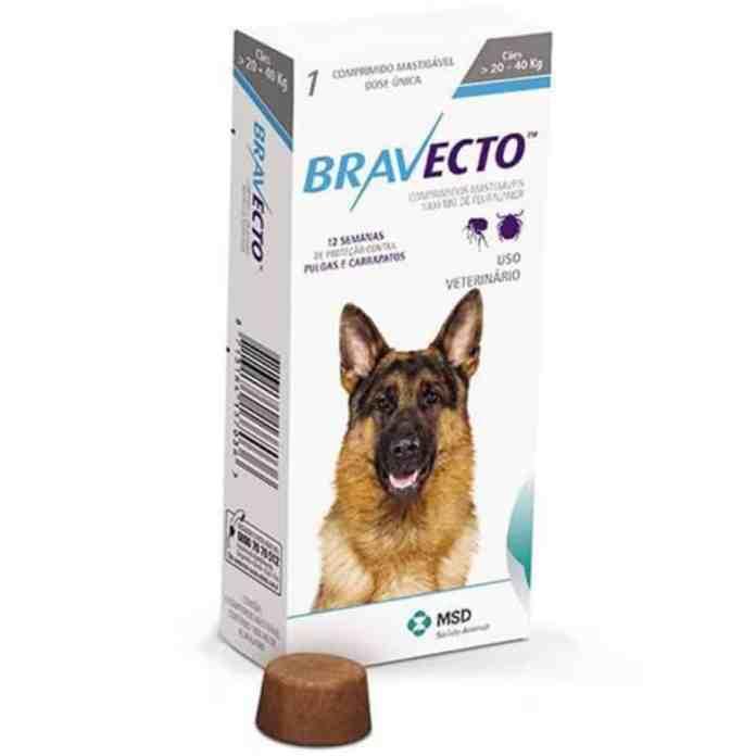 Caixa de Bravecto remédio contra pulgas e carrapatos