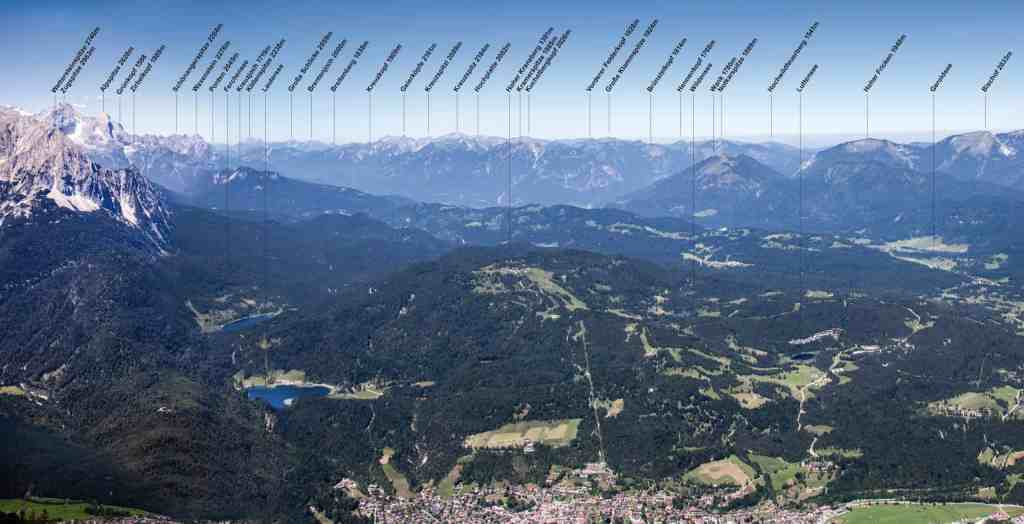 Panorama Plan Kranzberg und Wetterstein © Fabian Roessler