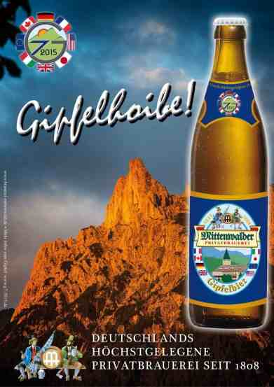 Plakat unseres Gipfelbiers