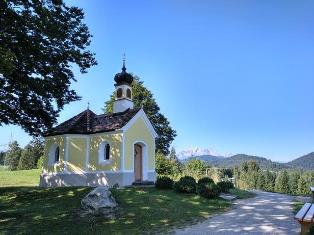 Die Kapelle mariarast an den Buckelwiesen