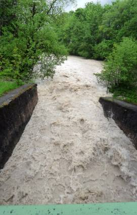 Hochwasser am Wehr