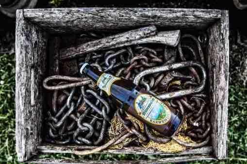 Mittenwalder Bier in der Arbeitskiste