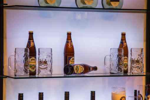Mittenwalder G7 Bier im Pressezentrum