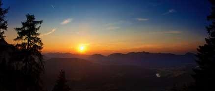 Sonnenuntergang an der Mittenwalderhütte
